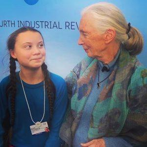 Greta Thunberg and Jane Goodall