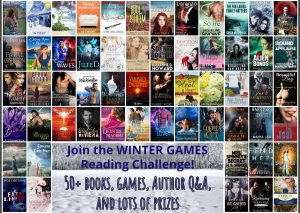 book covers for the Winter Games Reader Challenge