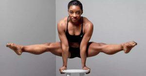 Simone Biles arm balancing